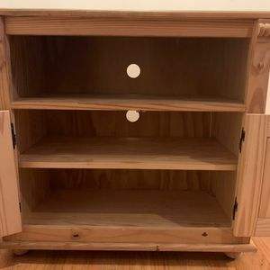 """gothic cabinet Other - Two Door Open Shelf TV Stand 48"""" wide"""